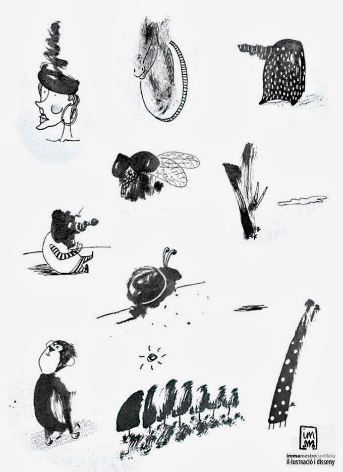 il·lustració feta amb taca de tinta xina
