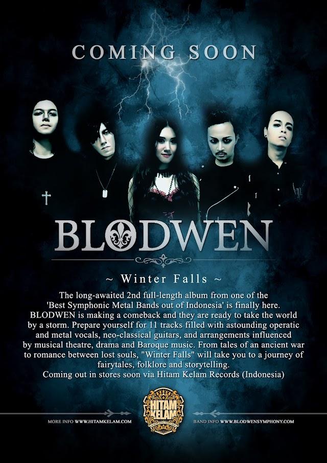 "PREPARE 2nd CD BLODWEN "" WINTER FALLS "" ON FEBRUARY 2016 VIA HITAM KELAM RECORDS"