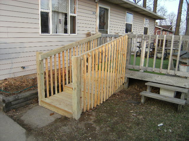Ada walker handicap stairs instead of a wheelchair ramp for Handicap stairs plans