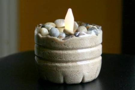 Tempat Lilin Botol Bekas dekoratif unik