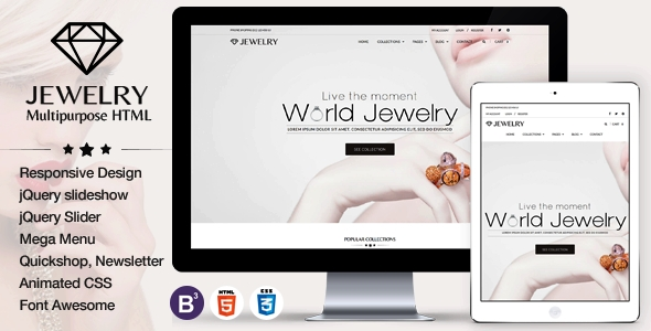 buy Jewelry - eCommerce Responsive HTML5 Template