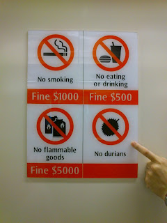 No durians in MRT stations and trains