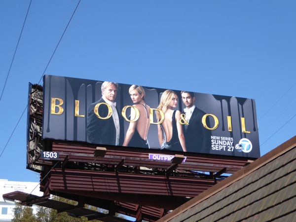 Blood & Oil series premiere billboard