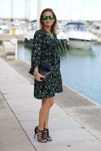 Surfdome, rabbit print dress, Cesare Paciotti shoes, Fashion and Cookies, fashion blogger