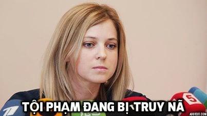 """Nữ Bộ trưởng Tư pháp xinh đẹp của Crimea là """"tội phạm truy nã"""""""