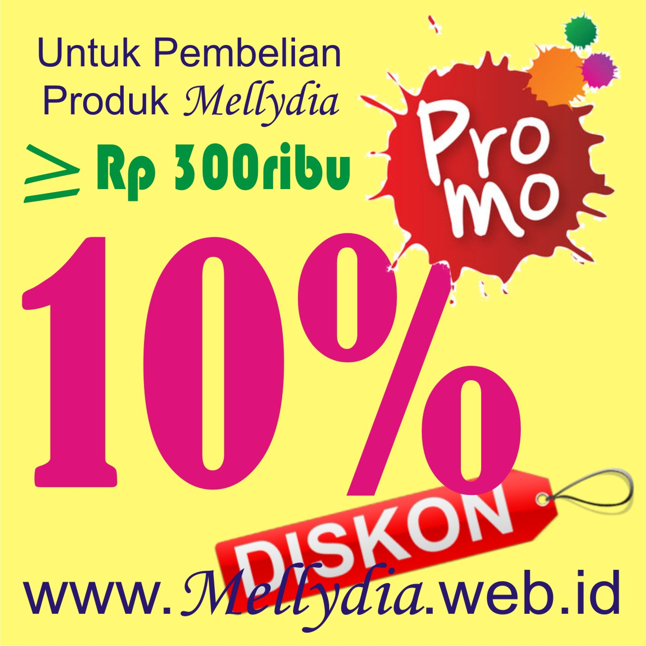 Promo Mellydia Diskon 10%