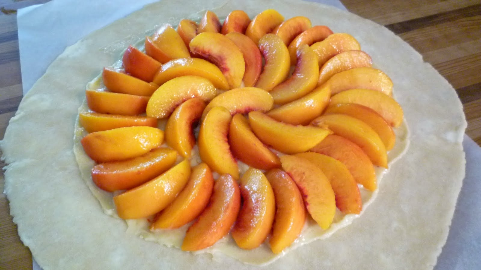 For Love of the Table: Peach, Raspberry & Almond Galette