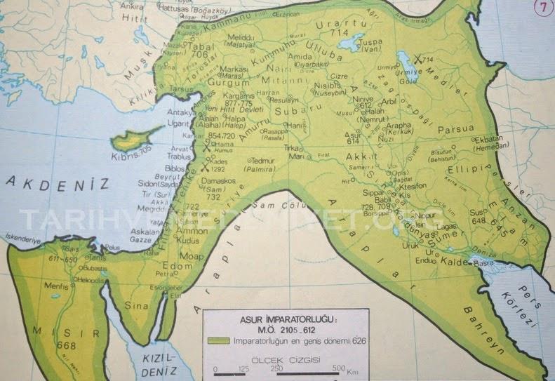 Asur İmparatorluğu Harita