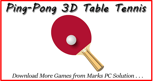 Ping-Pong 3D Table Tennis