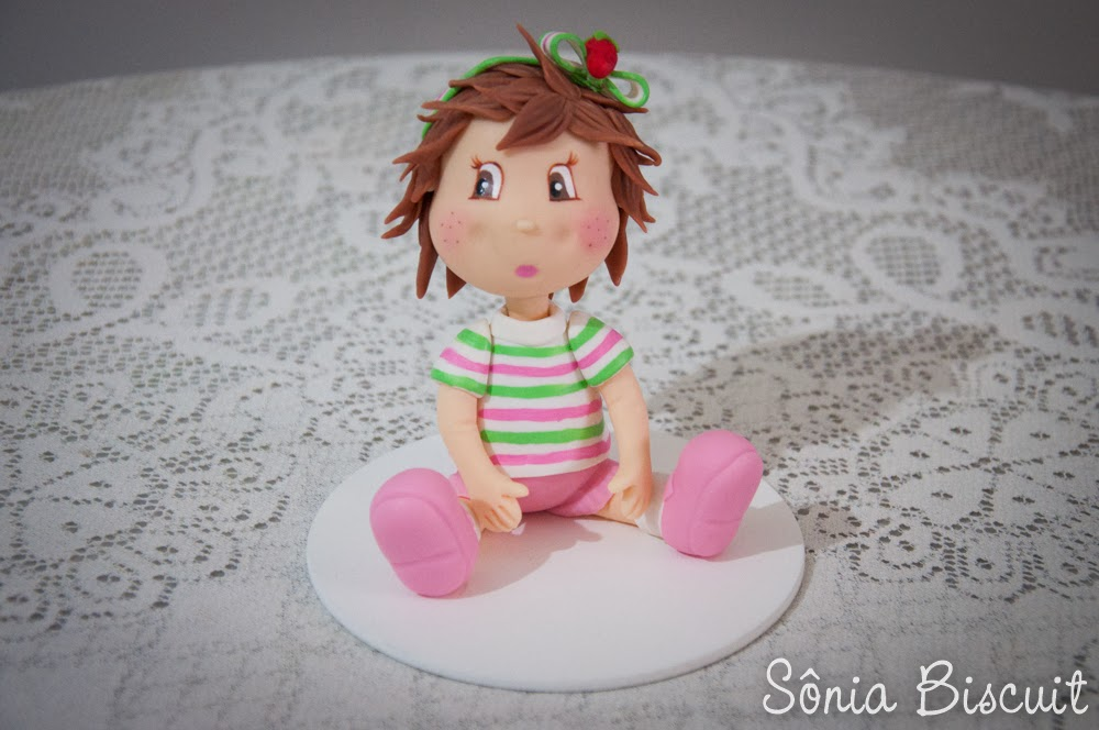 Moranguinho Baby Biscuit Topo de Bolo