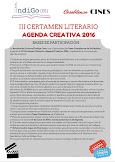 III Certamen Literario «Agenda Creativa 2016»