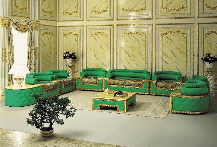 salon marocain en vert