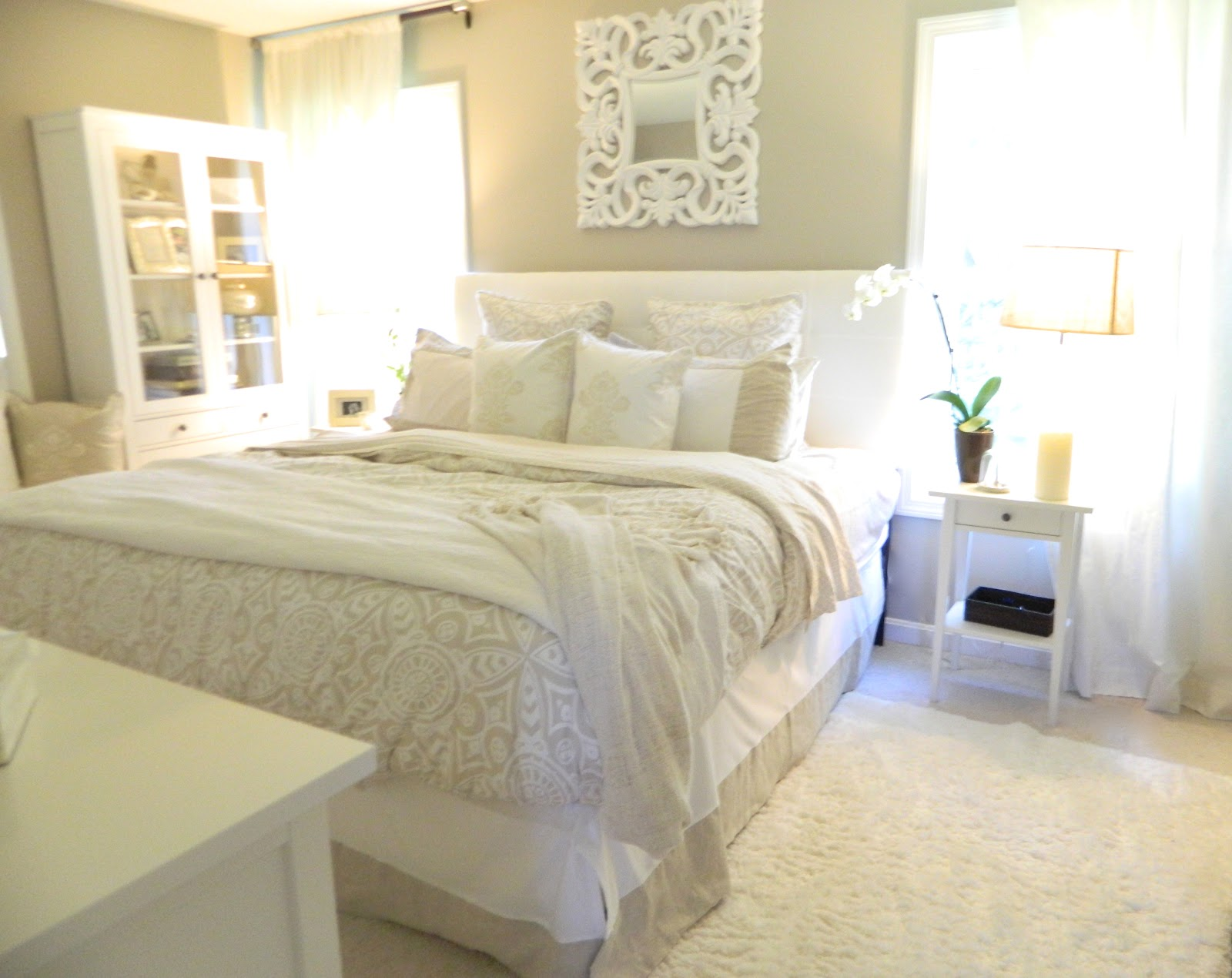 Peaceful home decor our romantic and peaceful masterbedroom originally posted july 6 2012 - Bedrooms decoration ...