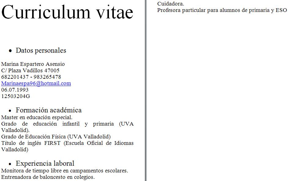 ejemplos de curriculum vitae dj