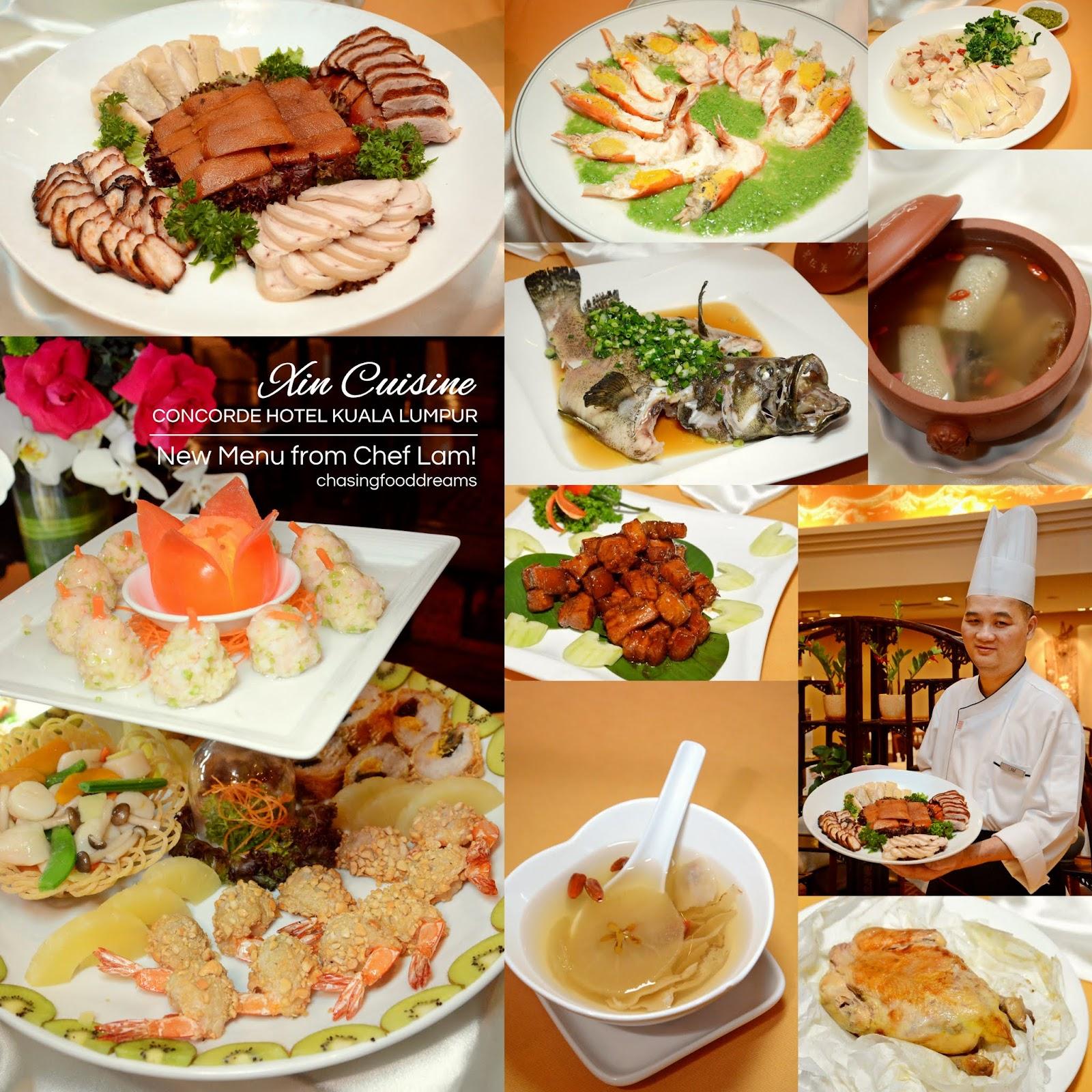 Chasing Food Dreams Xin Cuisine Concorde Hotel Kuala Lumpur New Menu