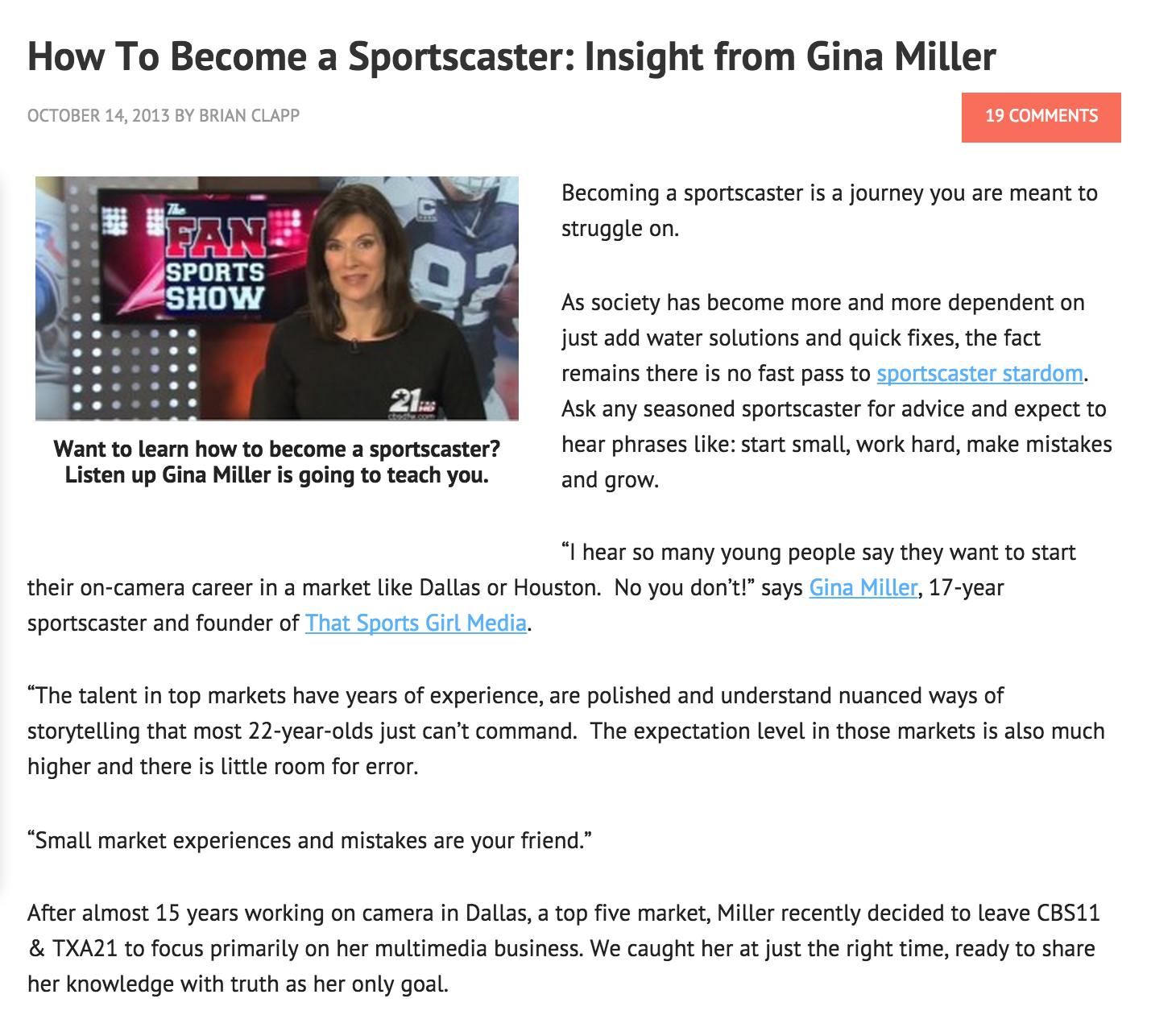 How to be a sportscaster, how to become a sportscaster, WorkInSports.Com