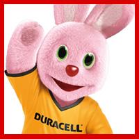 Bunny Duracell: coelho cor-de-rosa da famosa companhia fabricante de pilhas.
