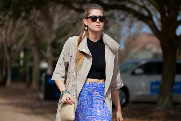 fashion in montion southern street style trench coats crop tops pattern skirts charleston street style southern street style