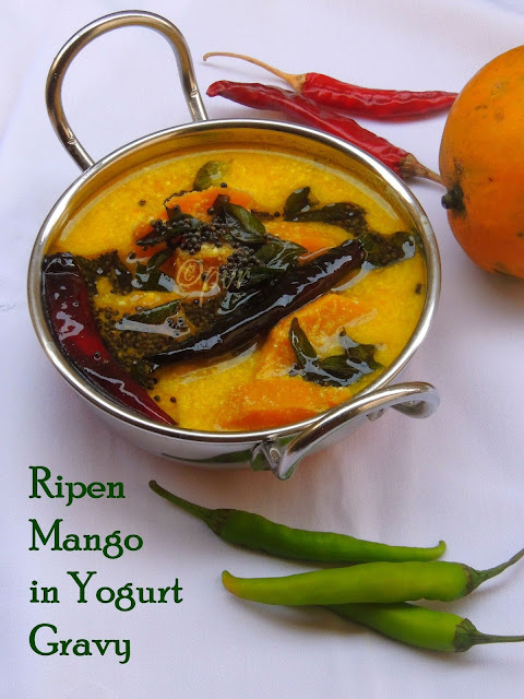 Ripen Mango in yogurt gravy, mambazha pulissery
