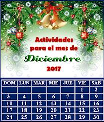 ACTIVIDADES PARA EL MES DE DICIEMBRE DE 2017