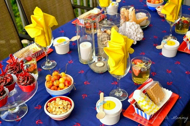How to create a nautical patriotic table adult table