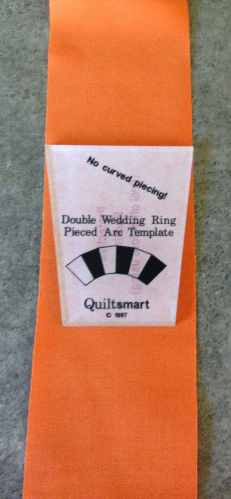 quiltsmart double wedding ring template on jelly roll vertically