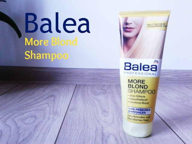 Balea -  More Blond Shampoo - szampon do włosów jasnych , nie tylko dla pań ;)