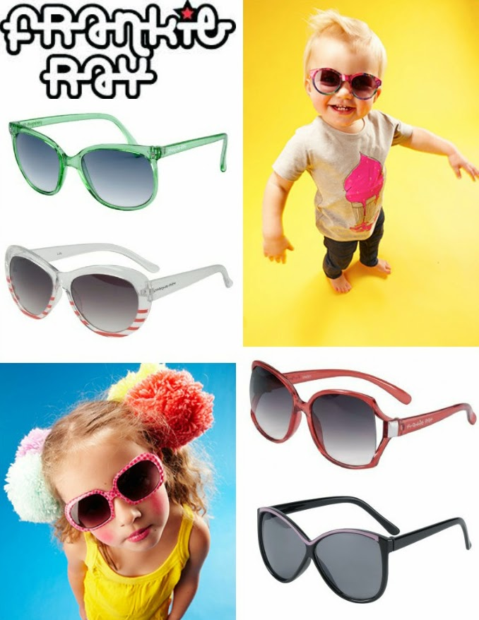 Funky retro styled kids sunglasses by Australian brand Frankie Ray