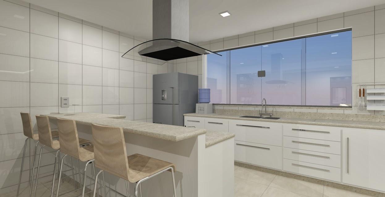Salas E Cozinha Ambientes Integrados Seu Sonho Desenhado -> Acabamento De Sala E Cozinha