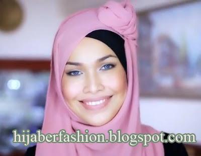 seperti kreasi jilbab ini untuk gaya yang satu ini caranya gampang dan ...
