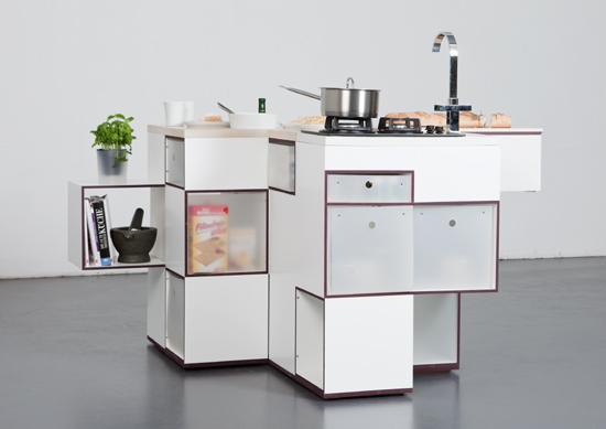 cuisine compacte design. Black Bedroom Furniture Sets. Home Design Ideas