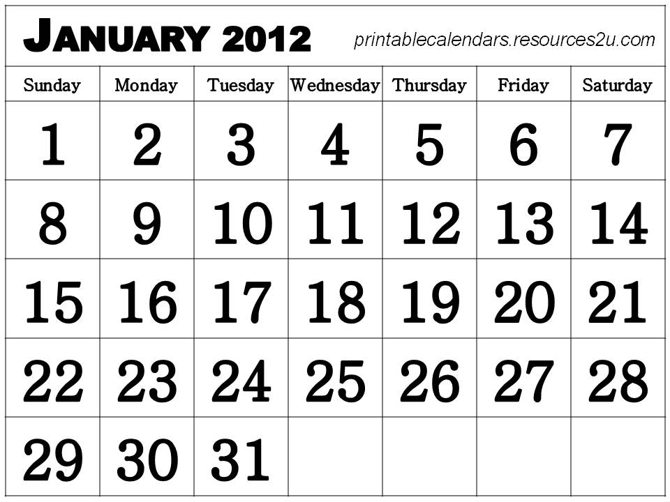 ... Free Calendars and Blank Calendars Planners2012 : Printable 2012