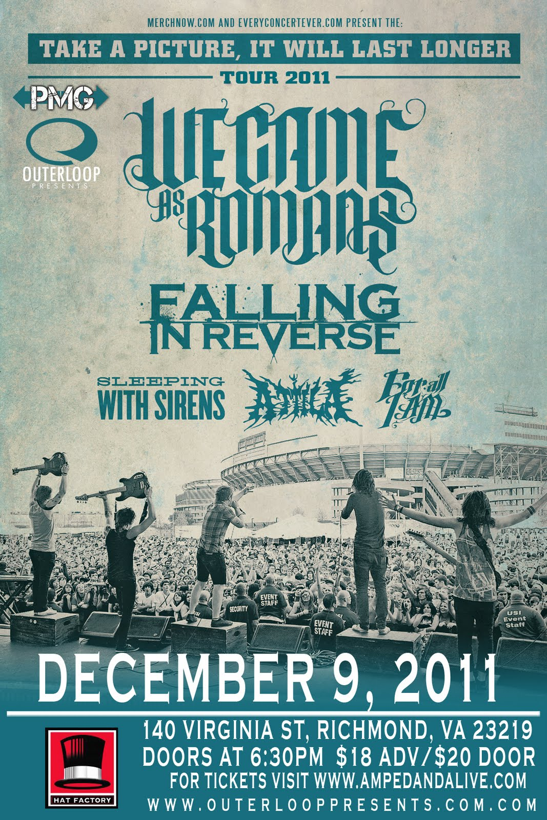 12/9 We Came as Romans, Falling In Reverse, Sleeping With Sirens ...