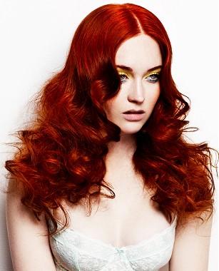 pelo rojo sensual verano