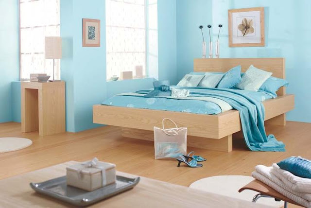 Peinture bleu chambre adulte for Photo de chambre adulte