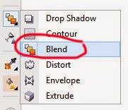 Icon Blend Tool pada Toolbox di CorelDraw X7