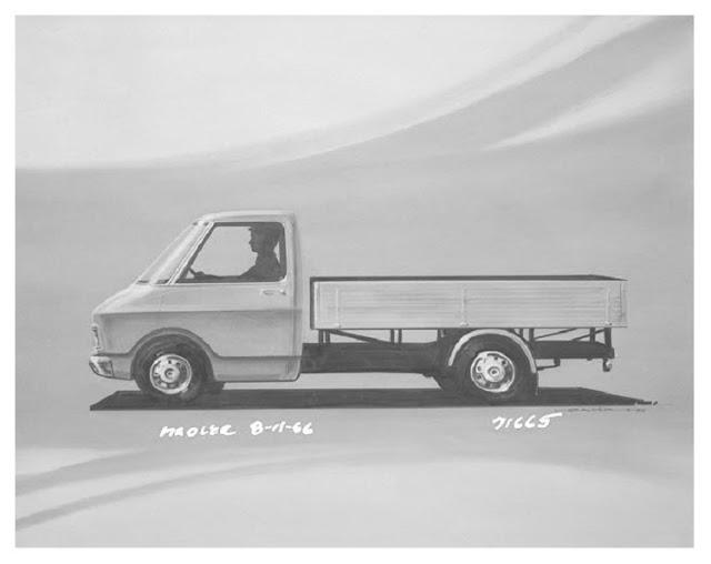 Bedford Cf2 Van  History  Bedford Cf Design Concepts  1966