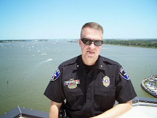 Shenandoah Assistant Chief Bryan Carlisle assisted with the transportation of the space shuttle in Galveston.