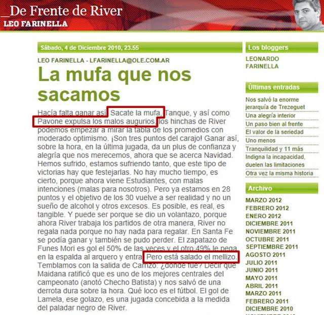 ¿River es mufa? MegaPost.