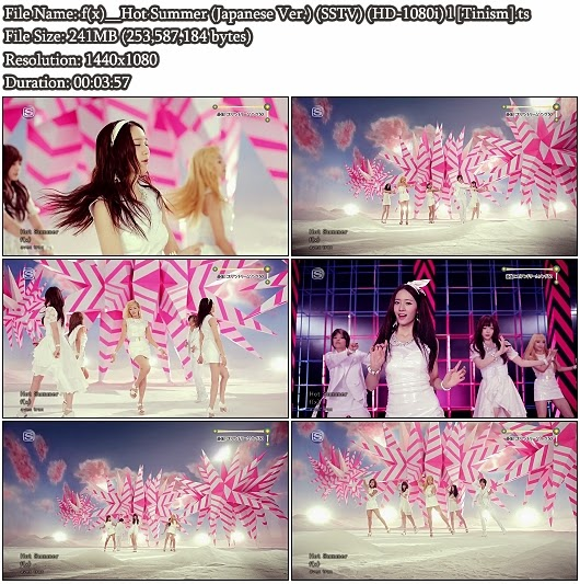 Download PV f(x) - Hot Summer (Japanese Version) (SSTV Full HD 1080i)