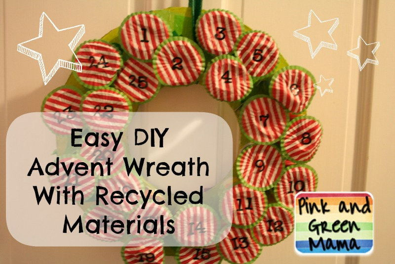 Pink and green mama christmas craft easy diy candy for Easy recycled materials