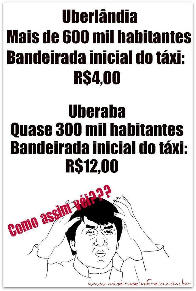 Uberaba 00 x 01 Uberlândia até no táxi :(