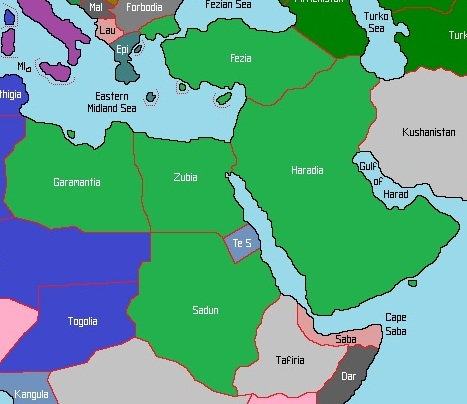 Middle East And North America Map Middle East North America