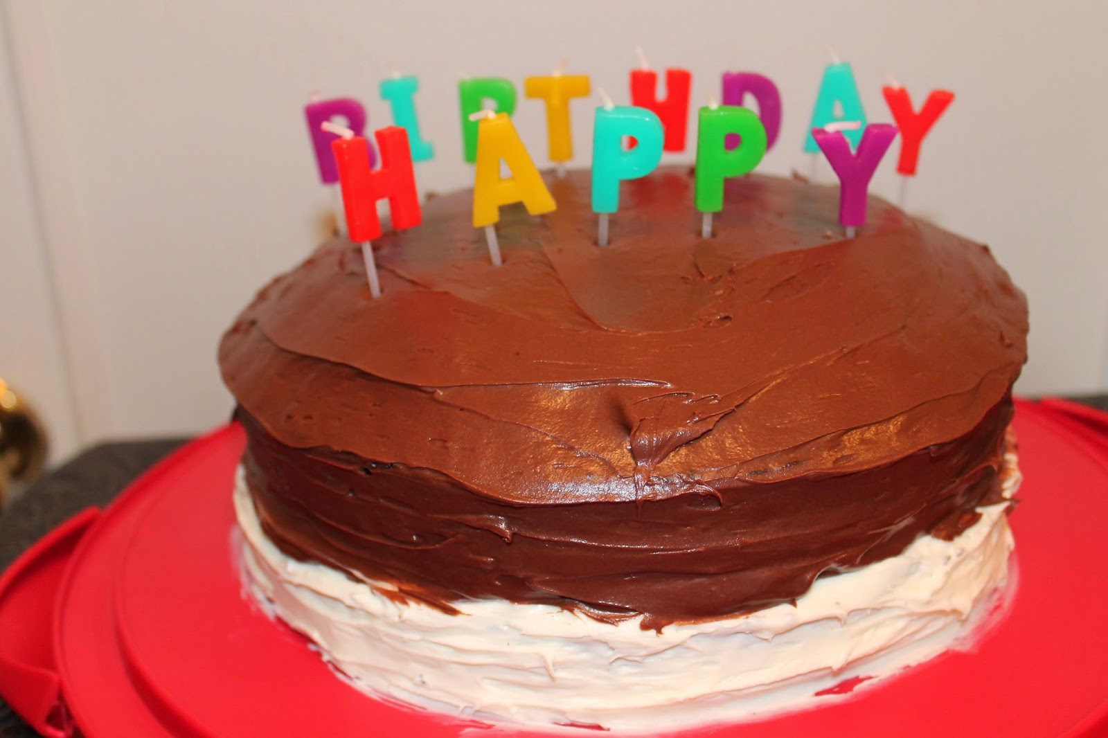 Two Tone Frosted Birthday Cake & The Little Things in Life - Easy Life Meal & Party Planning