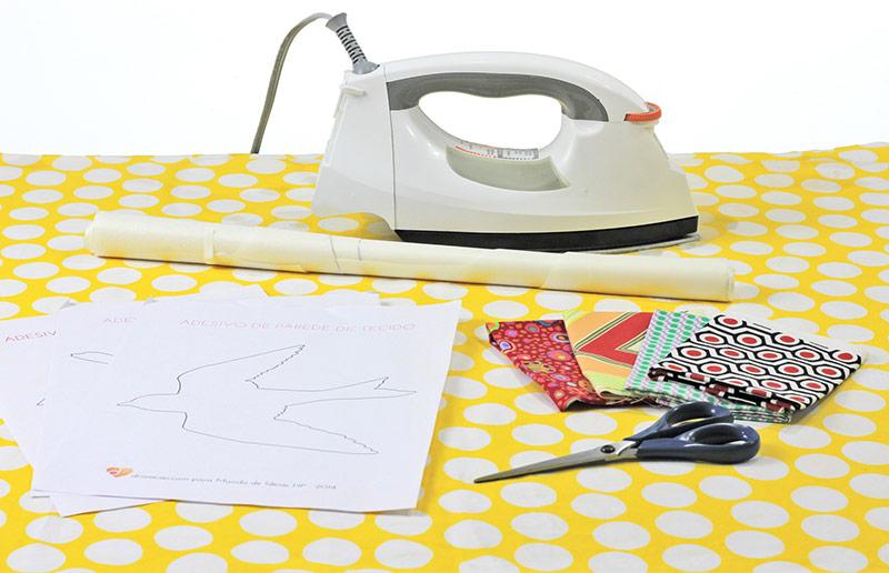 Faça-você-mesma: material para adesivo de parede de tecido