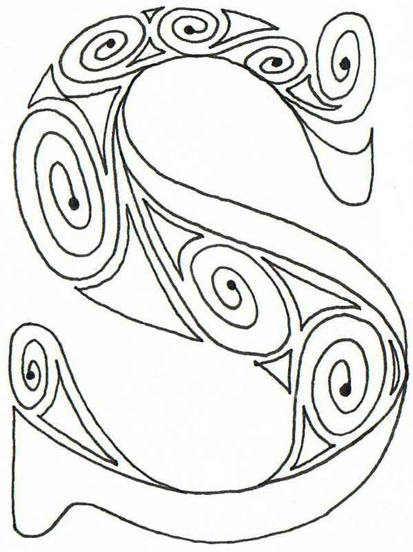 aztec coloring pages letter a - photo#10