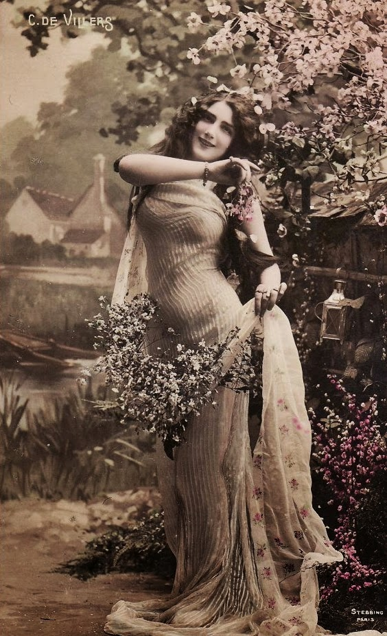 French Glamour Postcard 1900s