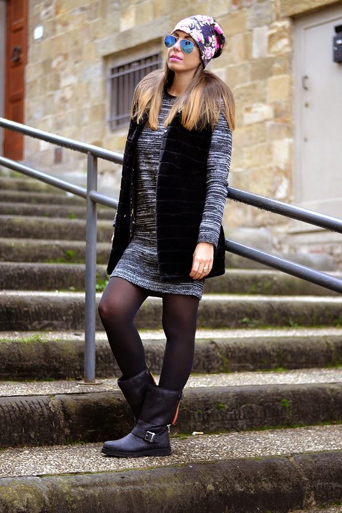 abito maglia grigio