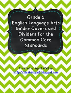 http://www.teacherspayteachers.com/Product/Grade-5-English-Binder-Covers-and-Dividers-for-the-Common-Core-Standards-941172