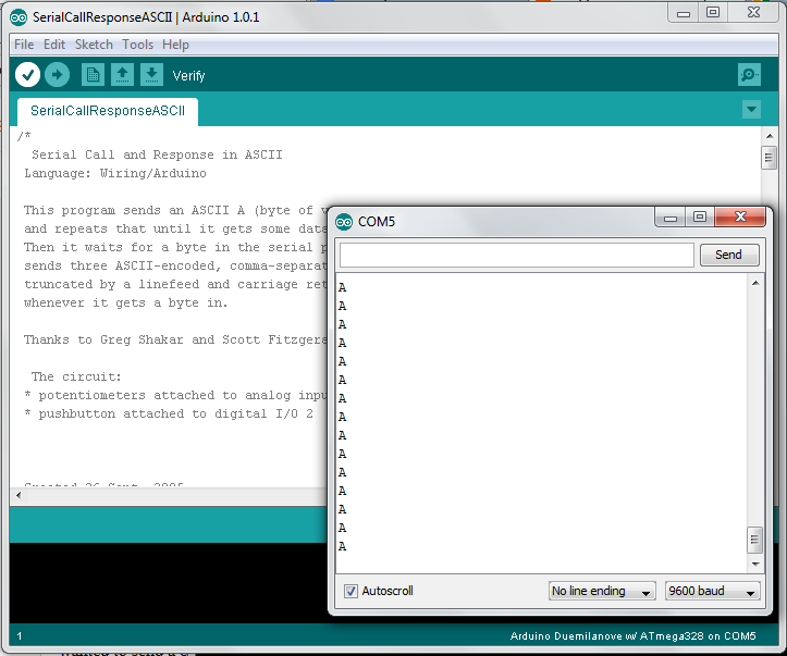 Siliconfish java tool for arduino interface from a pc